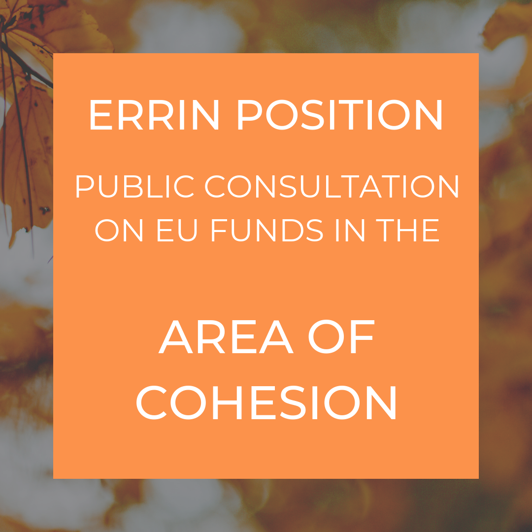 ERRIN position - public consultation in the area of cohesion