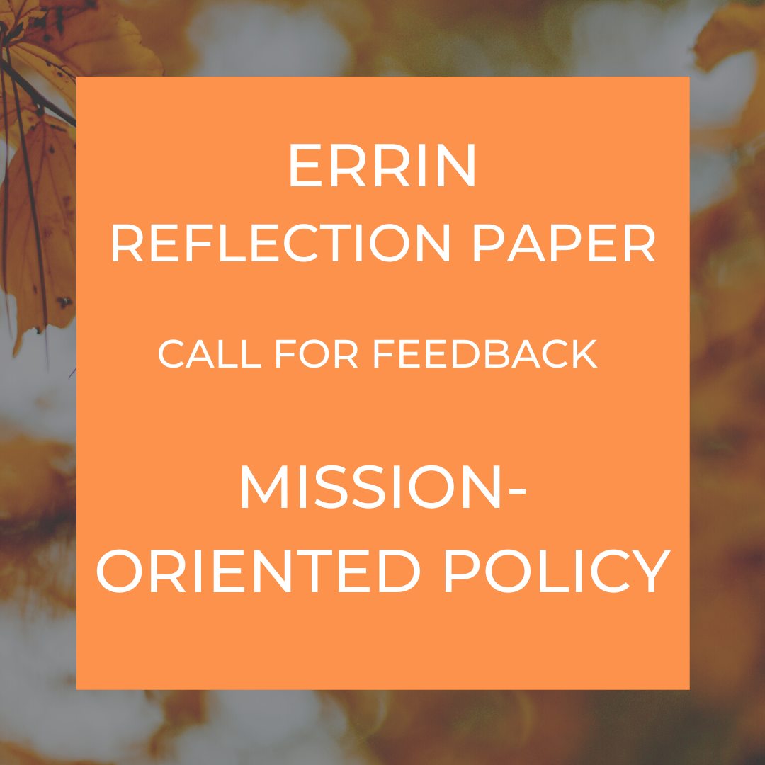 ERRIN reflection paper - mission-oriented policy