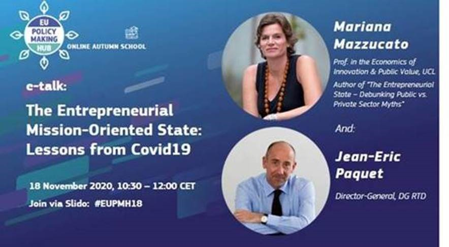 The Entrepreneurial Mission-Oriented State: Lessons from Covid19