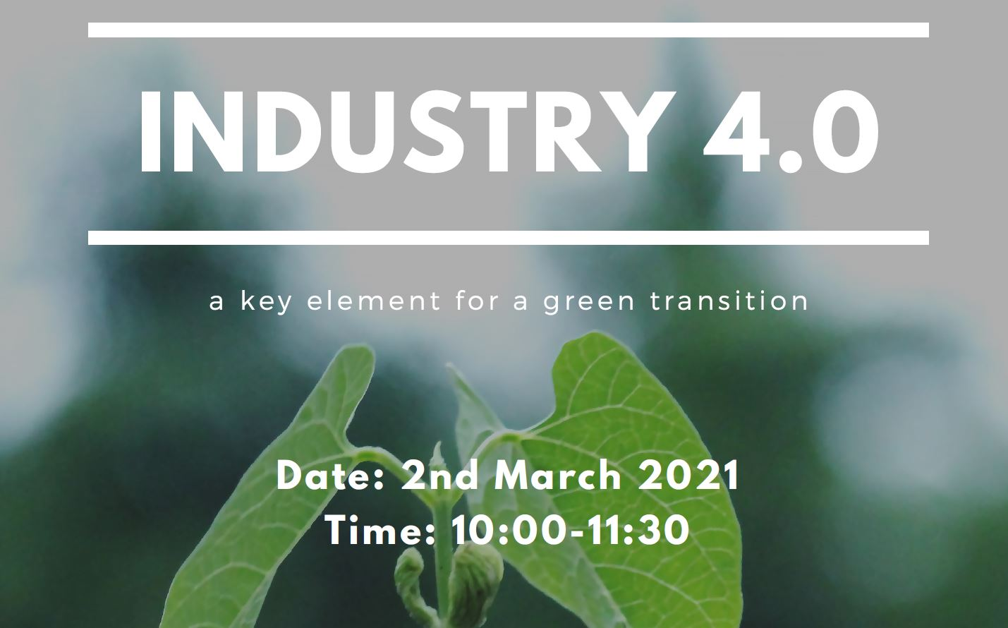 Industry 4.0 - a key element for a green transition