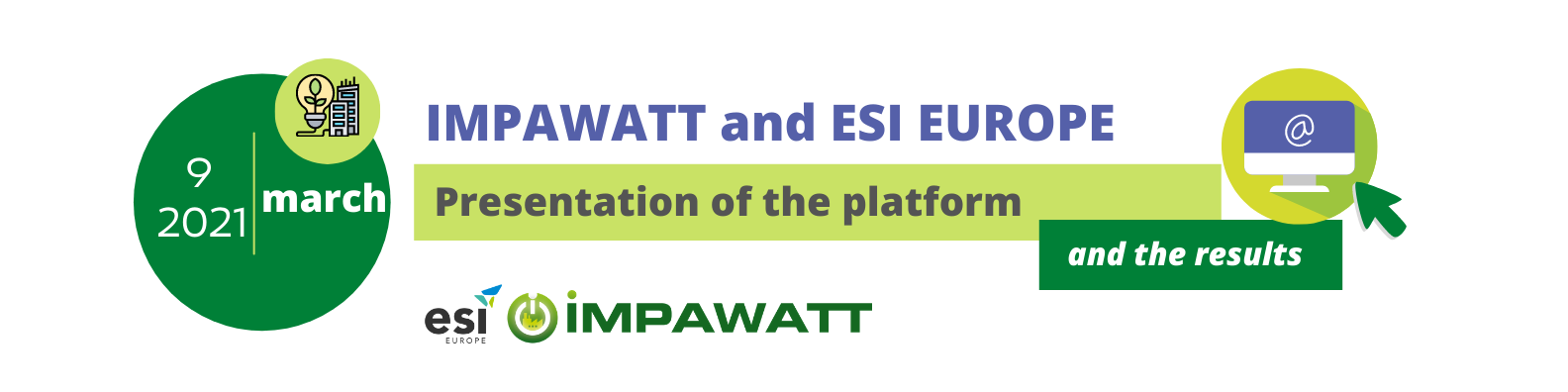 Impawatt and ESI Europe-Presentation of the platform and results