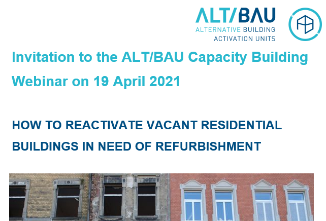 How to reactivate vacant residential buildings in need of refurbishment