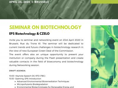 Seminar and networking event on current trends in biotechnology