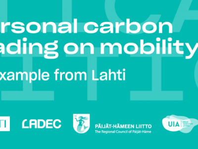 EWRC side event: Personal carbon trading on mobility - an example from Lahti