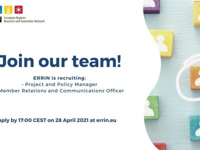 ERRIN is looking for Project and Policy Manager (deadline: 28 April)