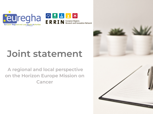 ERRIN & EUREGHA joint statement on Horizon Europe Mission on Cancer